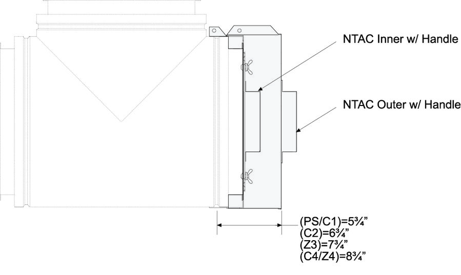NTAC No Tool Access Cap Dimensional Drawing