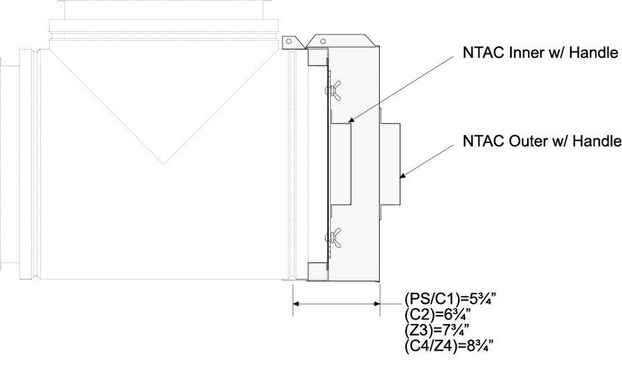 NTAC No Tool Access Cap Dimensional Drawing