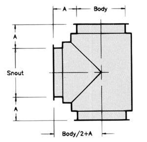 MT - 90° Manifold Tee- Dimensional