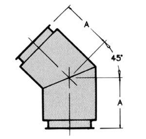 EL45 - 45° Elbow - dimensional