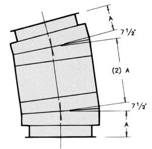 EL15 - 15° Elbow -Dimensional