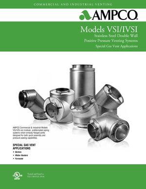 z - Cover Image: AMPCO Special Gas Vent Sales Catalog Models VSI/IVSI